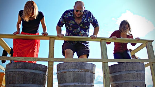 The grape stomp contest is one of the highlights of the annual Harvest Fest, taking place Sept. 8 at Parallel 44 Vineyard and Winery in Kewaunee.