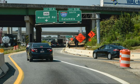 One of the busiest intersections is traffic around I-85 and I-385 in Greenville County.
