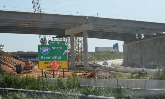 The Gateway project, which is making improvements to the Interstate 85 and Interstate 385 interchange, is expected to improve traffic flow and safety.