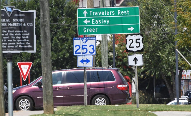 The intersection of state Highway 253 (West Blue Ridge Drive) and state Highway 25 (White Horse Road) is the county's top non-interstate location for accidents.