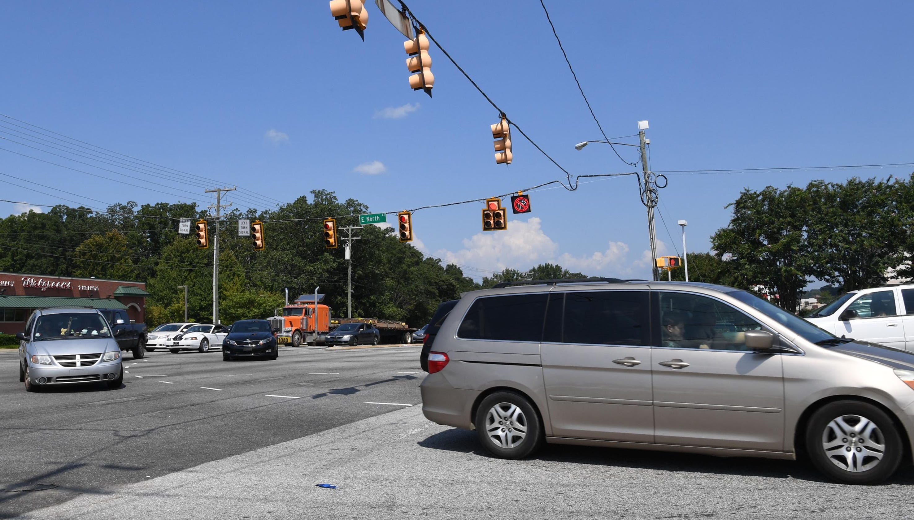 Greenville's accident hot spots remain mostly consistent