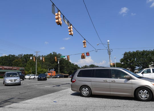 The intersection of North Pleasantburg Drive and East North Street in Grenville is a frequent spot for traffic accidents.
