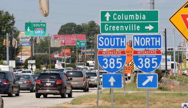 Woodruff Road meets I-385 in Greenville County in August 2018.