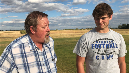 In this installment of WALK THE TALK, Great Falls Tribune sports writer Lee Vernoy talks to Great Falls Central QB Noah Ambuehl.