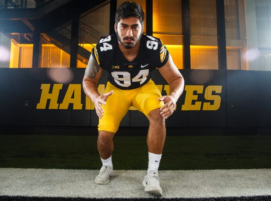 Iowa defensive end A.J. Epenesa should be elevated to more every-down situations in 2018, and no doubt will be used extensively on third-and-longs.