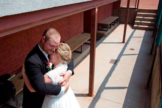 Kristopher Weisheit and Brittany Birk took their vows Saturday, Aug. 25, 2018.