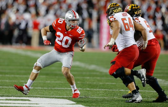 Pete Werner (20) is listed as a Week 1 starter for the Buckeyes.