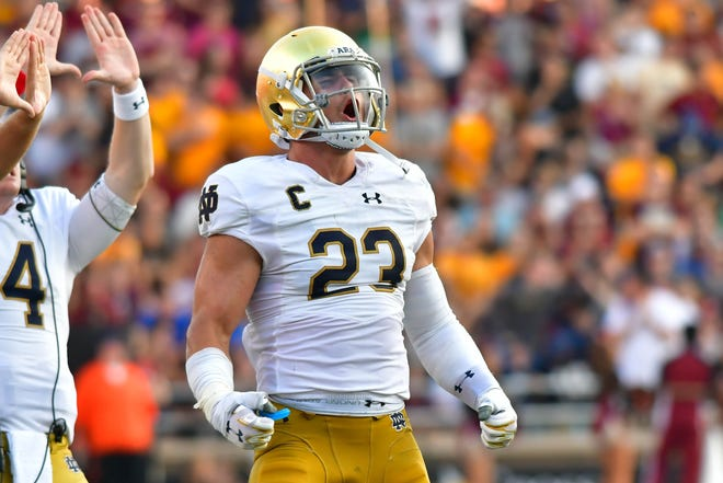 Drue Tranquill returns for a fifth year at Notre Dame.