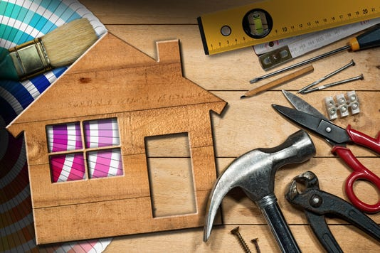 Home Improvement Concept Work Tools And House