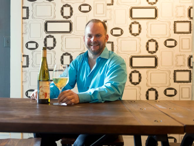 Steve Sansone and his business, The Double S Wine Bar, at 129 S. Gay Street on Tuesday, August 28, 2018.