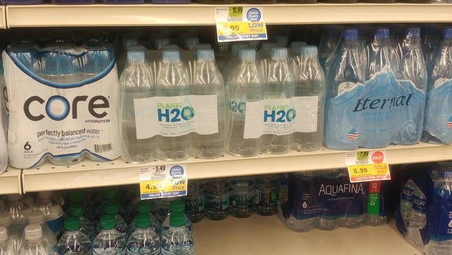 Planet H2O water is on shelves at Food City.