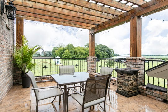 The outdoor balconies provide relaxing views of the property.
