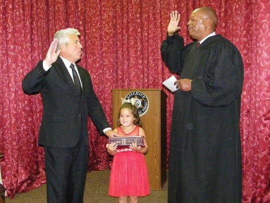 "Beauregard ""Bud"" Torres is sworn in as Pointe Coupee Sheriff."