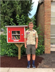Eric Johnson with Little Free Library at Connexion West