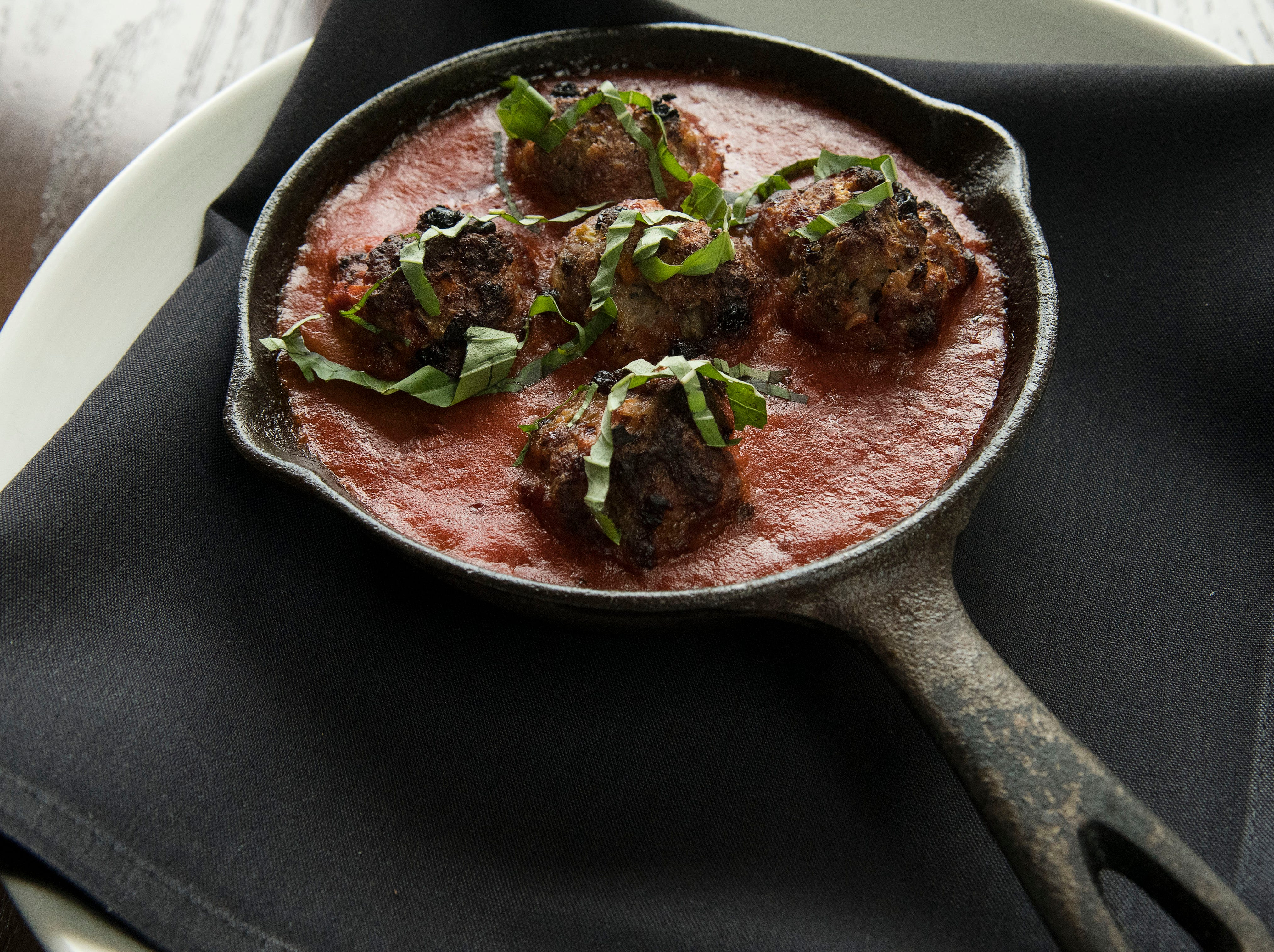 Meatballs prepared by head chef Carmelo Gabriele at Sarino on Wednesday, August 29, 2018.