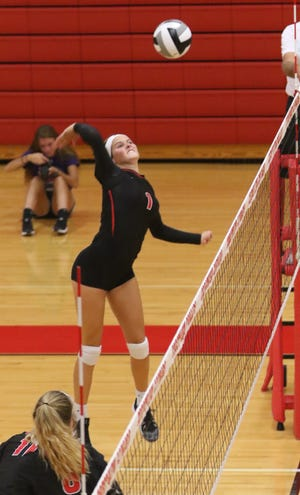 Crestview's Natalie Restille was named to the All-Firelands Conference volleyball first team.