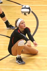 Crestview's Natalie Restille had a huge day in a 3-win weekend for the Lady Cougars.
