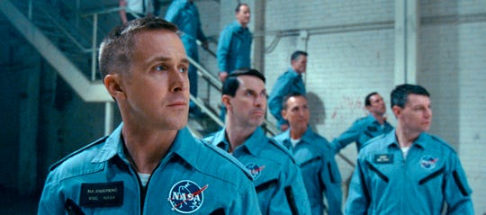 "Ryan Gosling is astronaut Neil Armstrong, facing the reality of going into space in ""First Man."""