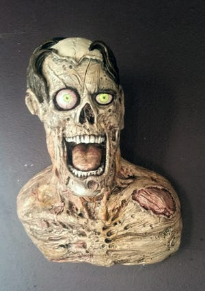 One of sculptor Brian Vallery's fantastic critters and creatures is this startling piece. His Stone Troll Studio creations will be on exhibit at Inspiration Studios, West Allis, during September. An opening reception will be 7 to 9 p.m. Saturday, Sept. 8.