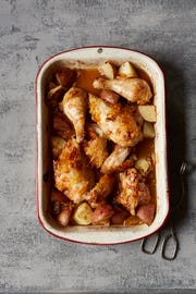 Marmalade imparts citrusy notes to this roasted chicken.
