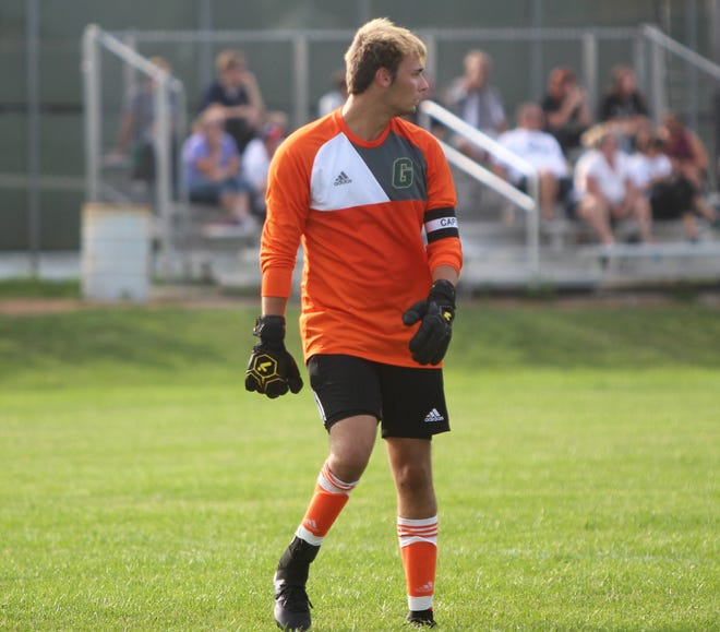 Greenfield senior goalkeeper Jesse Sponholz has excelled both in soccer and baseball.