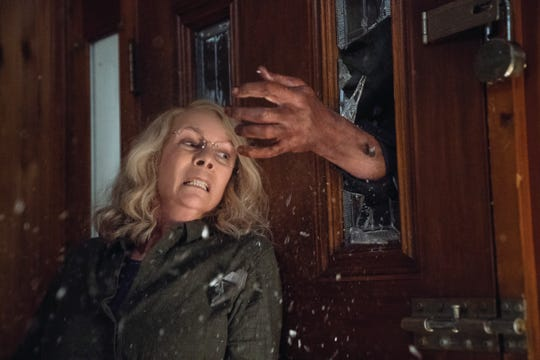 "Jamie Lee Curtis returns as Laurie Strode, 40 years later and ready to take on serial killer Michael Myers in ""Halloween."""