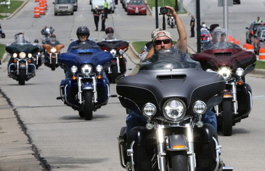 Harleys Rumble In Greenfield At Start Of 115th Celebration