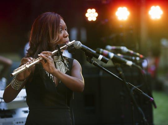Kim Scott returns to the Nat King Cole Society Jazz Festival on Sunday.