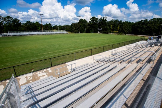 The new football stadium in Billingsley, Ala., on Wednesday August 29, 2018.