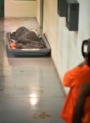 Wilson County jail is overcrowded with some inmates forced to sleep in common areas on mattresses on the floor. Monday Aug. 27, 2018, in Nashville, Tenn.