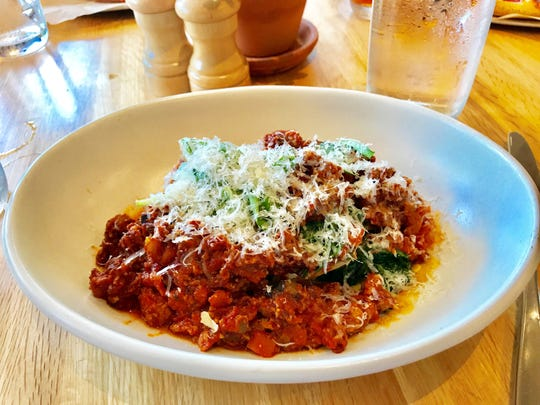 Lasagna Bolognese at True Food Kitchen in Naples' Waterside Shops.