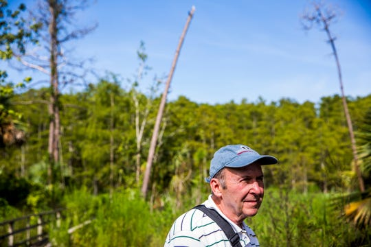 Werner Leutort of Naples takes a guided tour of the Audubon Corkscrew Swamp Sanctuary on Wednesday, Aug. 29, 2018.