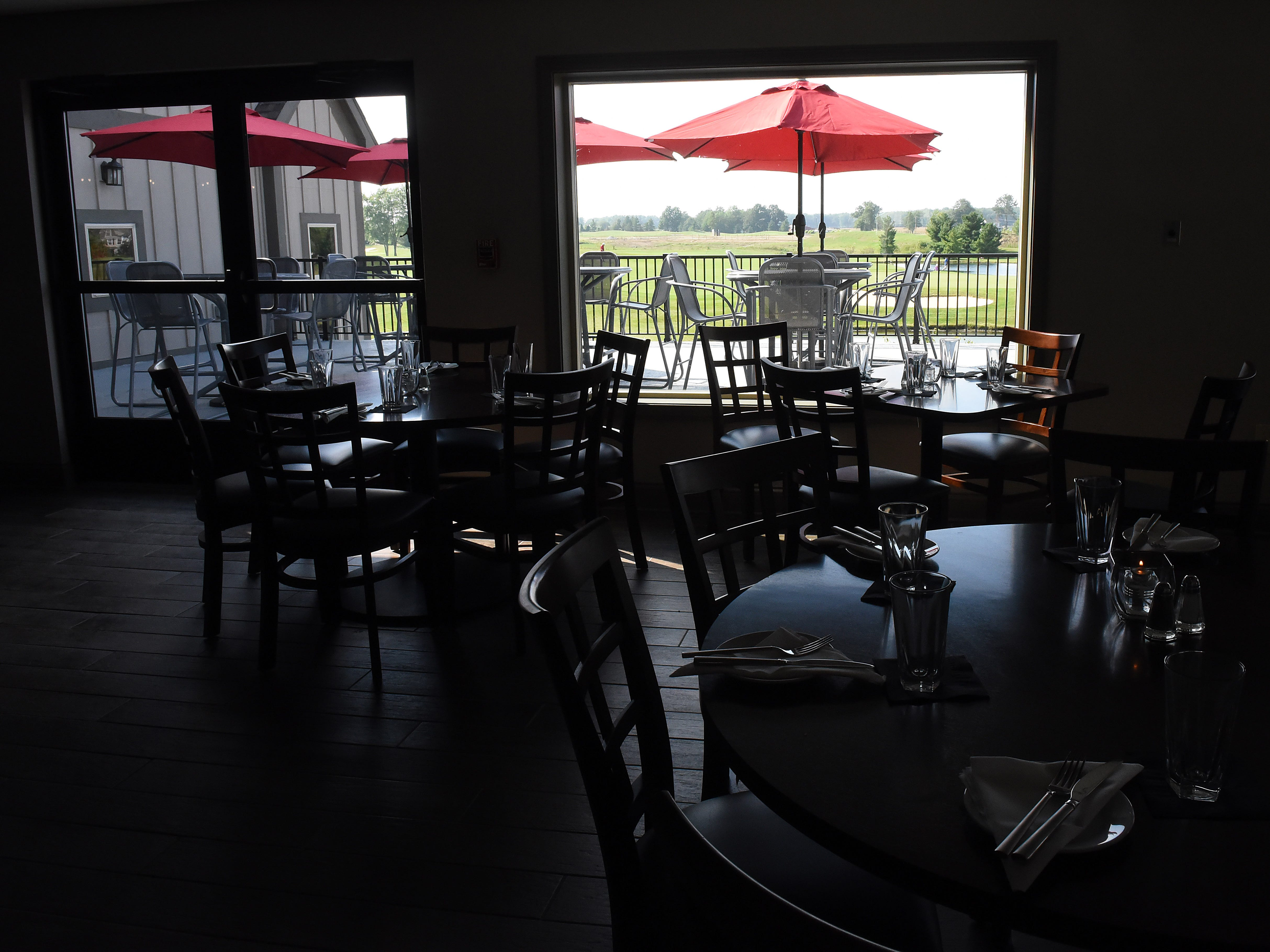 Dinning room of The Loft at Cumberland. The Pataskala restaurant is part of Cumberland Trail Golf Club.