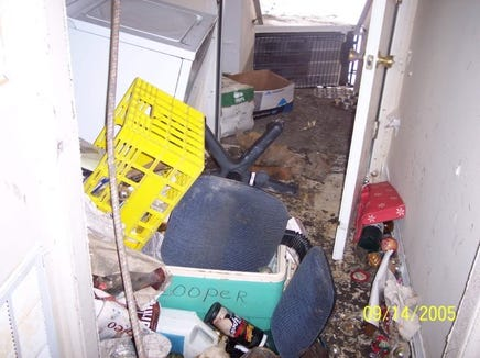 From 2005: My father's garage in Slidell a few days after Hurricane Katrina rolled ashore.
