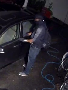 Police say they are looking for this suspect after numerous cars were broken into in earlier this week.