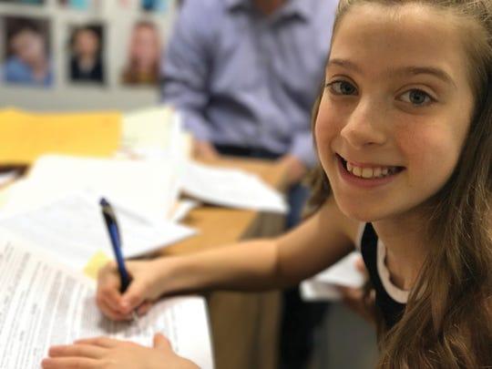 Ayla Schwartz, Glenfield sixth-grader