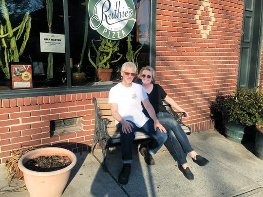 Eric Kaplan and Ruth Perretti, owners of Ruthie's Bar-B-Q & Pizza in Montclair