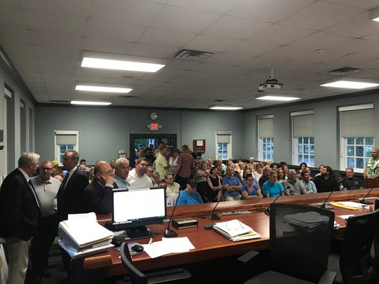 A planned Aug. 28, 2018 West Milford zoning board hearing on a proposed food waste recycling operation was postponed as the meeting room could not contain the crowd.