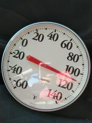 Temperatures can reach at over 100 degrees in cars on hot days.