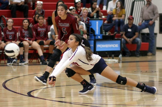 Senior Libero Kianna Gomez led the Lady 'Cats in the back court during Tuesday match win over Silver High. Gomez collected 5 digs.