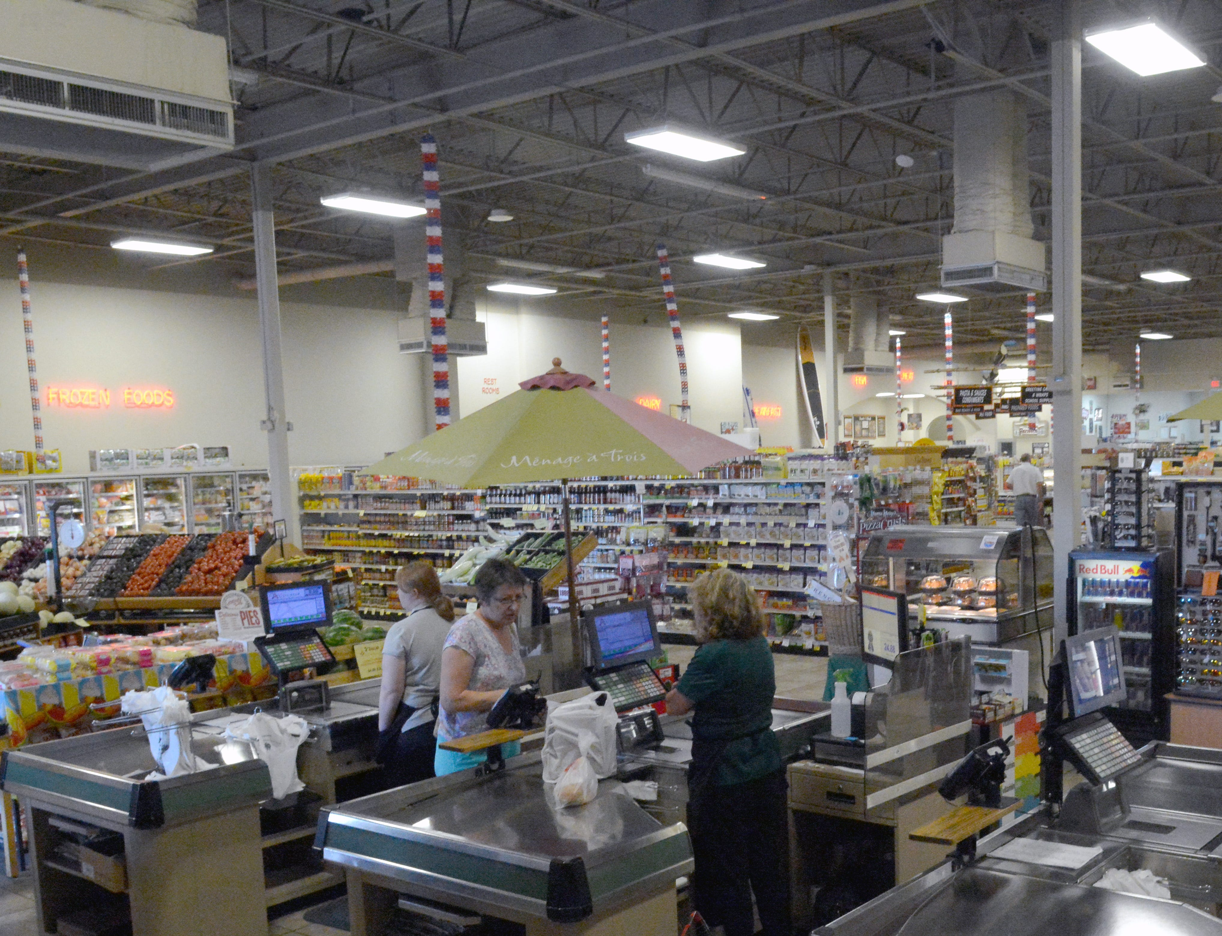 Customers expressed concern and good wishes while shopping at Toucan Market on August 29, 2018. The store will close its doors this fall after 13 years.