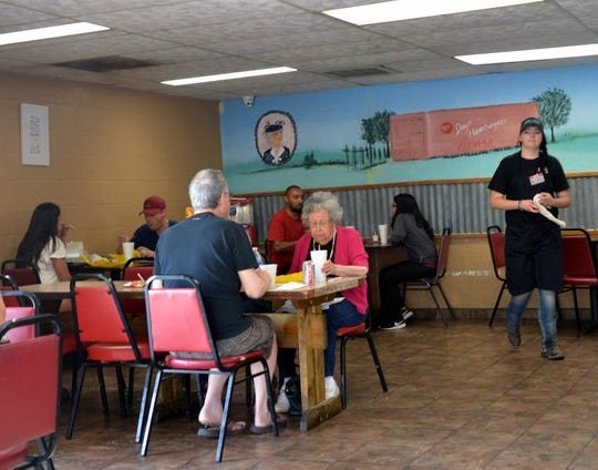 Business was brisk during lunch hour at Day's Hamburgers on Wednesday, Aug. 29, 2018.