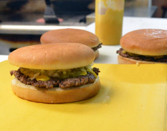 Day's Hamburger's classic Great Day with cheese and green chile.