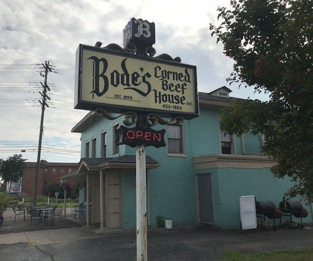 Bode's Corned Beef House, open in Plymouth since 1959, is up for sale.