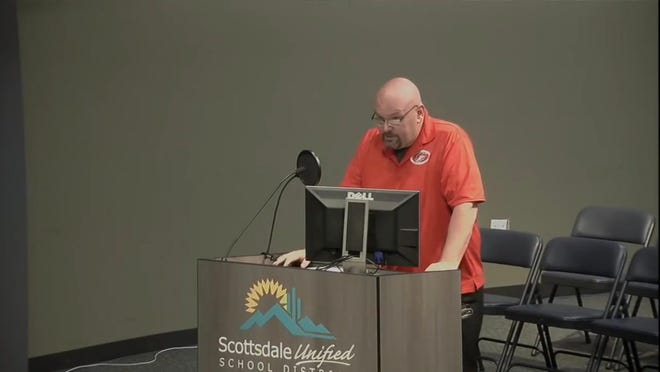 Two candidates remain in the Scottsdale Unified School District board race after a judge booted Scottsdale parent Mike Peabody from the ballot in an emotional court hearing on Wednesday.