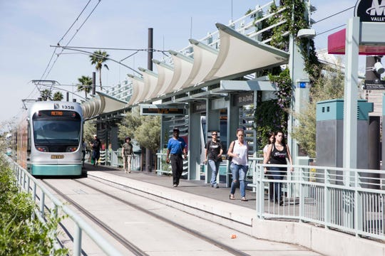 Phoenix's 19th Avenue light-rail extension opened last year.
