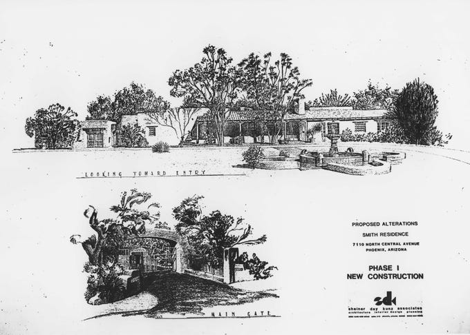 Plans from 1986 for the remodeling of John and Cindy McCain's home in north-central Phoenix, which was Cindy's family home.