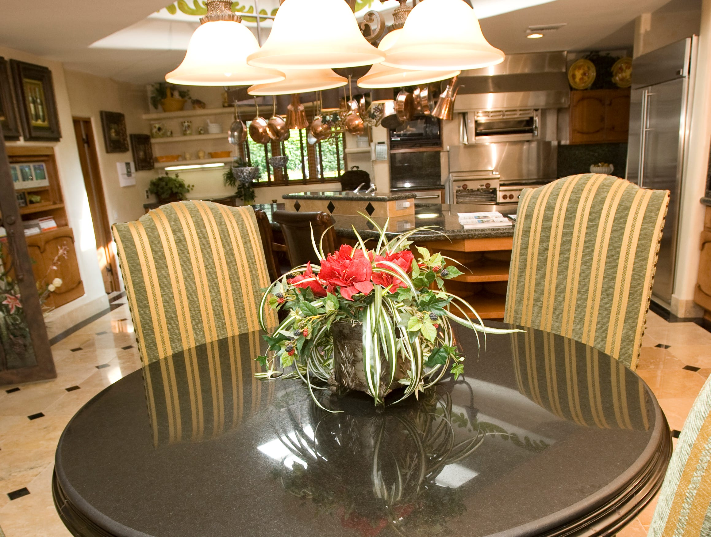 A kitchen table in the former home of  John and Cindy McCain is seen in 2008.