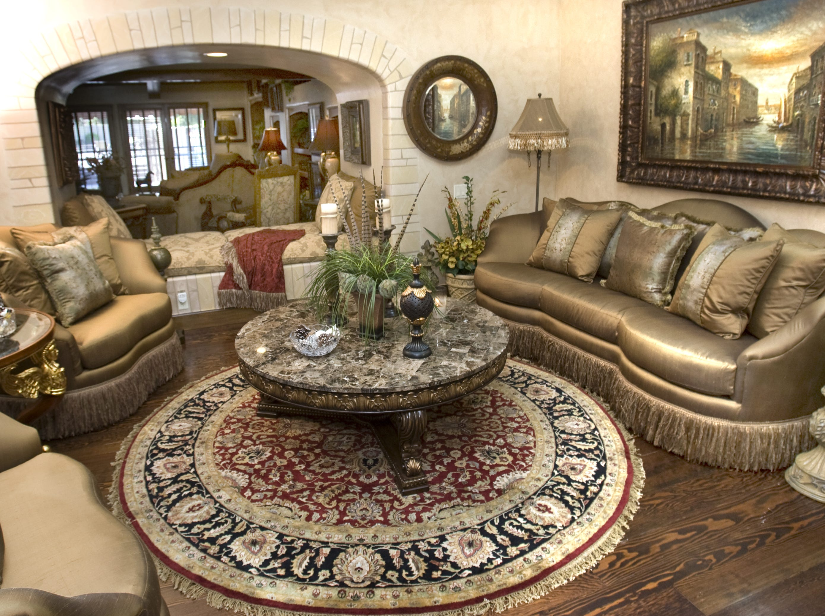 A front sitting room in the former home of  Sen. John and Cindy McCain is seen in 2008.