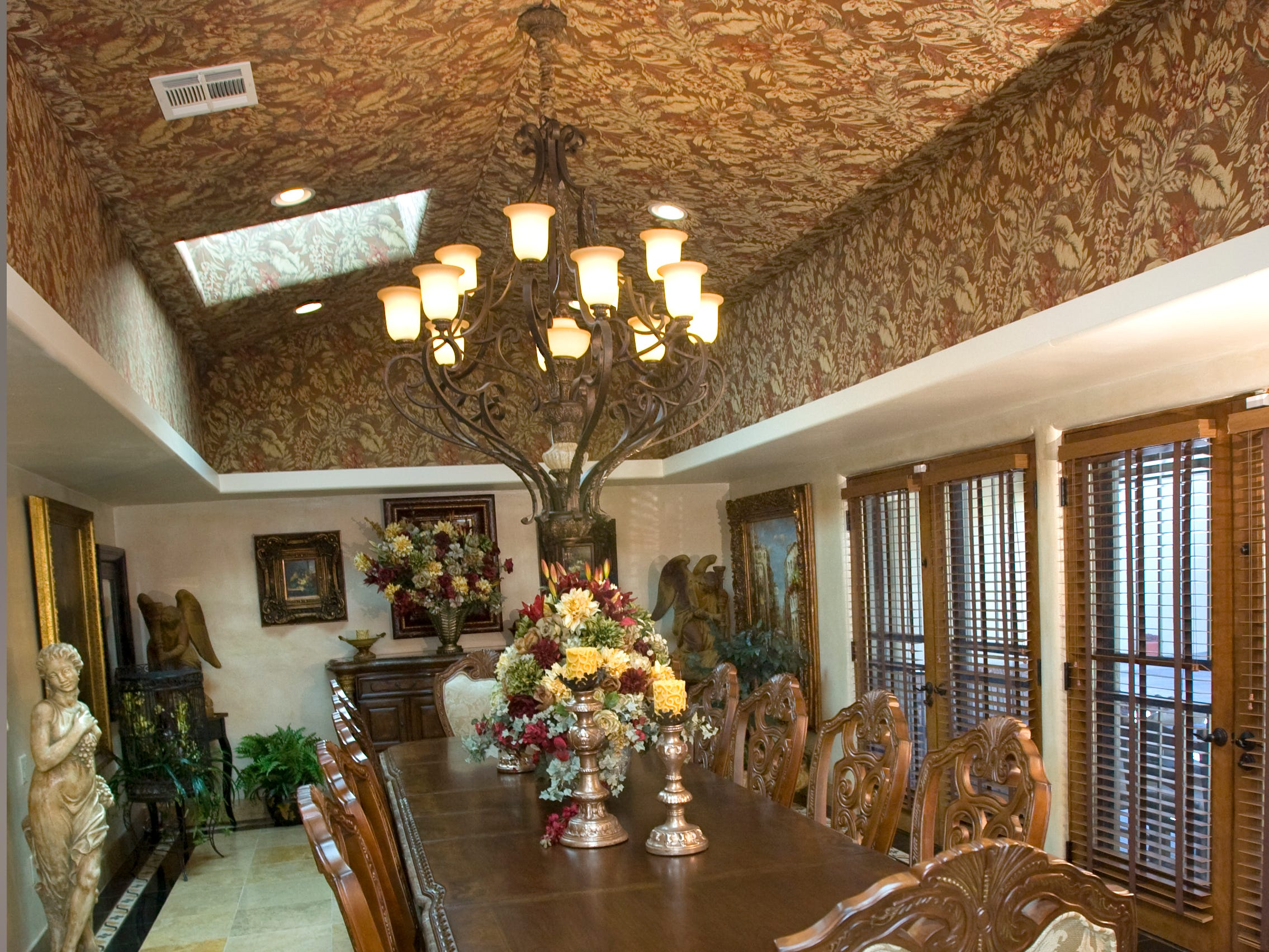 The dining room in the McCains' former home in Phoenix, is seen here in 2008.